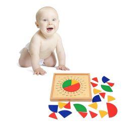 GroßhandelsMontessori Baby-hölzerner Kreismathematik-Bruch-Schuppen-Vorstand-pädagogische Spielwaren