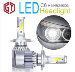 Système d'éclairage automatique C6 Voiture projecteur LED Lampes LED automobile Auto 9005 H11 H7 H4 Voyant C6