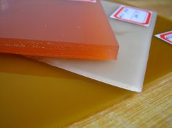 Colorida Hoja de poliuretano PU, hojas, hojas de plástico para la industria junta, 75-95shore a