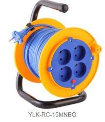 Fiche européenne 16A 250V H05VV-F 3G1.5mm2 25/50m de bobine de cordon de prolonge