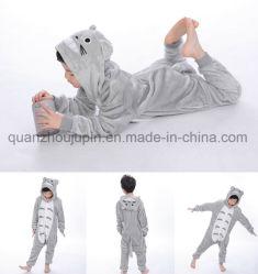 OEM Pyjama's van de Nachtkleding van de Nachtjapon van Chlidren van de Jonge geitjes van de Vacht van het Koraal de Leuke Dierlijke