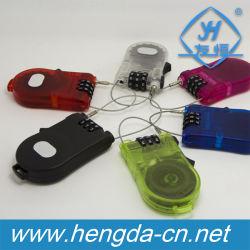 Câble flexible escamotable serrure à combinaison/bagages en plastique de blocage (YH9909)