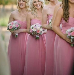 Simple PROM party cocktail Gown A-LINE Chiffon Bridesmaid Evening Dress Z212