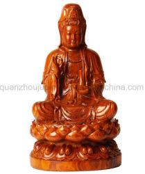 Высокое качество OEM деревянной скульптуры Карвинг Будды на рис.
