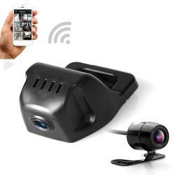 Aluguer de Carro WiFi DVR Câmara de Vídeo Digital Mini-Dash Cam Gravador de vídeo Full HD 1080P Câmara de lente dupla DVR