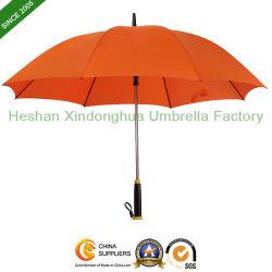 Recta de 27 pulgadas de lluvia Golf paraguas con ventilador de Cool teléfono USB CARGADOR para regalo promocional (Ventilador-0027ZF)