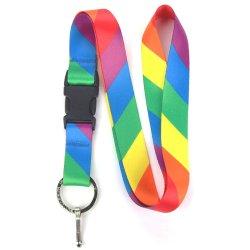Rainbow флаг Premium стропом с преднатяжителем плечевой лямки ремня и плоские кольцо