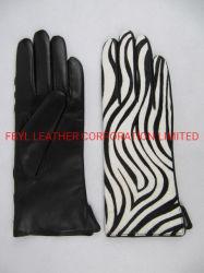 Guanti in vera pelle con decorazioni Horse Fur (JYG-29126)