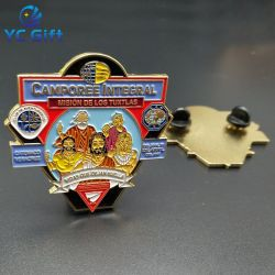 Art cadeau de promotion de métal personnalisée épée Logo mode Application de la Loi de l'emblème de l'émail doux de la broche d'un insigne pour cadeau souvenir (BG11)
