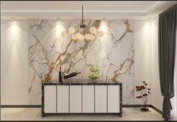 Pedra sinterizado parede de fundo Bancada de cozinha móveis de decoração da superfície da mesa grande laje de pedra pia do banheiro