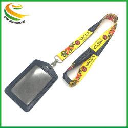 安い習慣によって印刷される昇華首のツールの安全PVC IDの帯出登録者の締縄