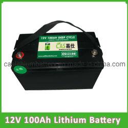 깊은 주기 재충전 전지 12V 100ah 리튬 건전지