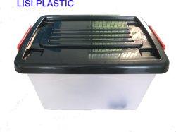55Lホーム使用の多目的美しい衣服のためのプラスチック収納箱