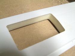 Aluminiumeinlagige Latte des fenster-Profil-55mm
