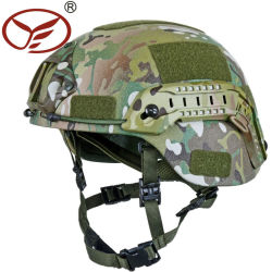 Peso ligero camuflaje táctico militar impresión Mich2000 Slideway Casco balístico