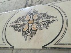 De marmeren Ronde van de Steen/Vierkant/Rechthoek/de Aangepaste Waterjet van het Embleem Tegel van de Vloer van het Medaillon van het Patroon