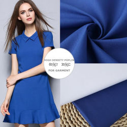 Plain teñido algodón POLIÉSTER T/C de Tejido de sarga Poplin CVC perforar tejido camisa uniforme prendas de vestir ropa ropa de trabajo