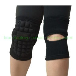 Espessura do joelho elástico elástico tricotado Sponge-Padded goleiro apoiar Sports esteio da proteção da Luva de futebol