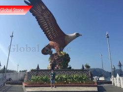 Al aire libre personalizados estatua de grandes animales Águila de bronce escultura (GSBR-509)