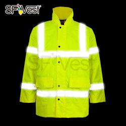 2020 высокая видимость на дороге безопасности предупреждение Зимняя куртка светоотражающие защитную одежду