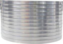Lamina in alluminio puro color argento per apparecchiature per telecomunicazioni