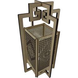 Porta candela personalizzata in legno Deocration Lantern