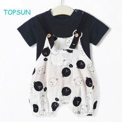 Fórmulas para bebê meninos roupas casuais Verão Set Plaid Pocket Shorts calça e vestuário superior de manga curta
