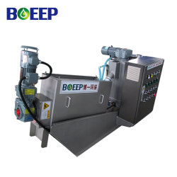 ISO/SGS/Ce 기름 진창 처리를 위한 탈수 기계로 소용돌이 모양 나사 여과 프레스