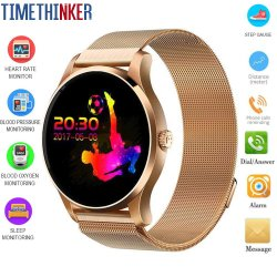 Timethinker K88 Smartwatch hommes Smart Watch Bluetooth Bracelet d'appel Moniteur de fréquence cardiaque Android Ios Fitness Sports de regarder le podomètre