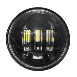 """Schwarzes rundes LED Nebel-Licht 4.5 des Chrom-12V """" Lampe für Auto-Licht des Harley Motorrad-führend LED"""