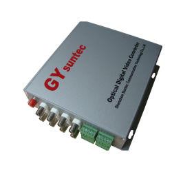 8チャネルのビデオ+1チャネルRS485+8CHの可聴周波光トランスミッタ(GY-8V-1FD3-8DA-TS)