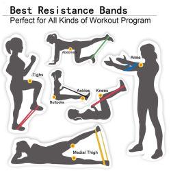 Elastici elastici di marchio su ordinazione di forma fisica per le fasce di resistenza del lattice di concentrazione di ginnastica di esercizio di allenamento della strumentazione di allenamento di forma fisica