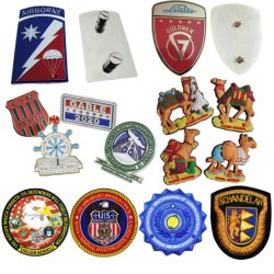 卸し売り習慣によって刺繍される金属の軍3D金のエナメルPinのバッジの国民または党または友PVC/Plastic/Woven/Rubberの刺繍の衣類のABS車の紋章(ピン21)