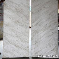 Популярные Book-Matched Белый Оникс лист прозрачной полированным специалисты Alabaster настенной панели