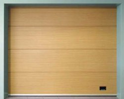 Стальные PU изолированных жилых Ce автоматическое верхней плоскости стандартным подъемом ролик динамического гаражных дверей с двери пешеходов