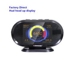 2020 de Nieuwe AutoHoofden van Hud van het Alarm van de Auto van Displayer van de Meter van de Snelheid van de Maat Digitale T/min van Konnwei van Toebehoren OBD2 op Vertoning voor Uw Auto