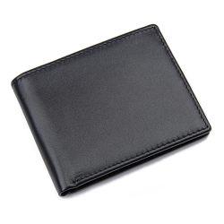 R-8449UM Couro Carteira RFID titular do cartão de identificação em pele genuína