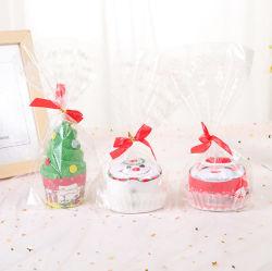 Творческие и приятный рождественский Санта Клаус рождественский подарок торт полотенце