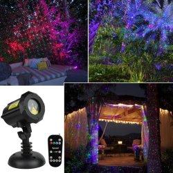 アマゾンベストセラーRGBの庭の休日の屋外の装飾Halloweenおよびクリスマスプロジェクターのための移動ホタルのレーザー光線