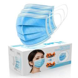 GB/T 32610-2016のNonwoven 3つの層使い捨て可能な保護か安全または塵のマスク/with Earloops/Bfe>95%