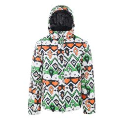 Il formato antivento incappucciato spesso esterno del vestito di pattino di inverno mette in mostra i vestiti