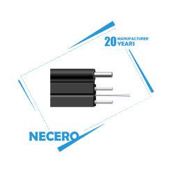 Fábrica de producción Necero directamente en el exterior negro Self-Support Outersheath FTTH cables LSZH caída