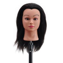 Manichino testa 100% Cosmetologia umana capelli formazione bambola per Styling dei capelli