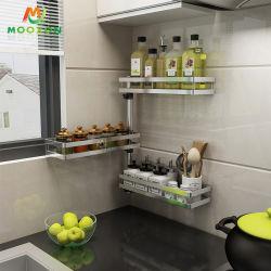 مطبخ تخزين جدار جبل يدور [سبيس رك] قابل للتعديل منظّم مرطبان حامل