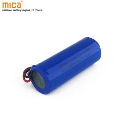 26650 Batería de ión litio de 3.7V 5000mAh Batería de litio cilíndricas para linterna LED de electrónica de consumo con alambre de PCM