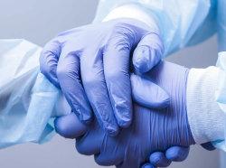 De nitrilo Guantes de examen médico