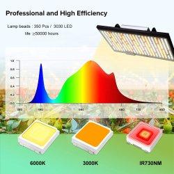 2000W LED는 실내 점화가 3000K 6000K 730nm IR를 가진 실내 플랜트를 위한 램프를 증가하는 스펙트럼 Quantum 가벼운 가득 차있는 널을 증가한다