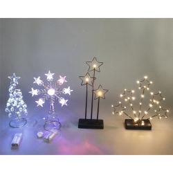 Innengebrauch-schönes Baum-Stern-Blumen-Eisen-dekoratives Licht