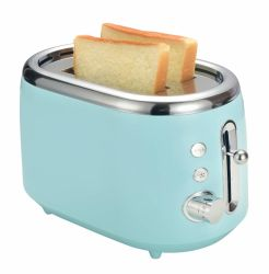 2 Fatia de Pão Slot Extra Larga/Begal Torradeira, bom motor para assar uniformemente, reaquecer/Descongelar/ 7 Sombra Pão torradeira para Home
