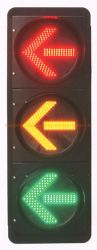 Des drei Farben-Pfeil-LED Pfeil-Anzeiger Richtungs-der Ampel-LED